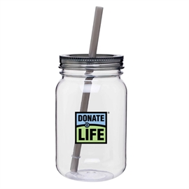 Picture of 25 oz. Plastic Mason Jar