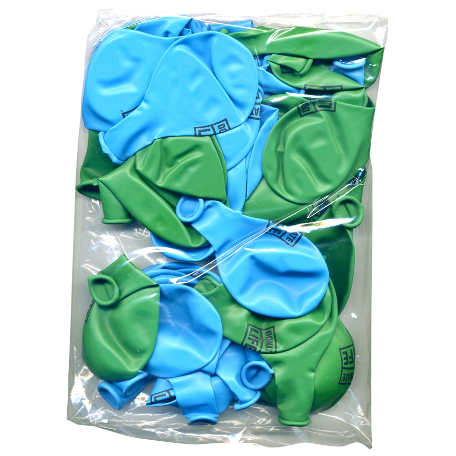 Green and blue balloons -  Picture Of Blue And Green Balloons 50 Pk