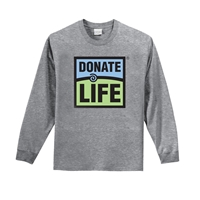 Picture of Grey Long Sleeve Cotton T-Shirt