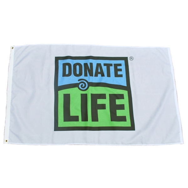 Picture of 3' x 5' Donate Life Flag