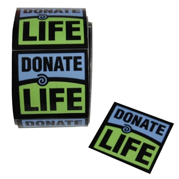 Picture of Donate Life Stickers - Die Cut Roll