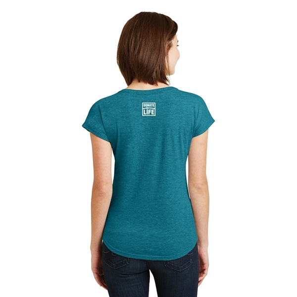Picture of Donate Life Ladies' Triblend V-Neck T-shirt