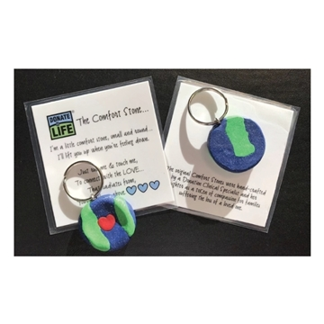 Picture of Donate Life Comfort Stone Keychain