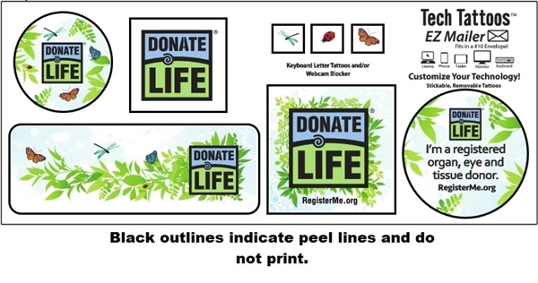 Picture of Sticker Sheet -National Donate Life Month 2021