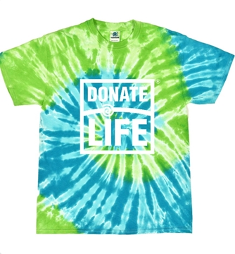 Picture of Blue and Green Tie Dye Shirt