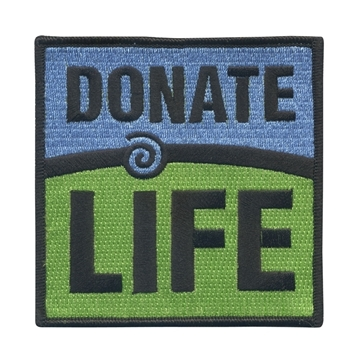 "Picture of 8"" x 8"" Donate Life Patch"