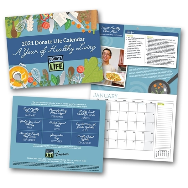 Picture of 2021 A Year of Healthy Living Wall Calendar