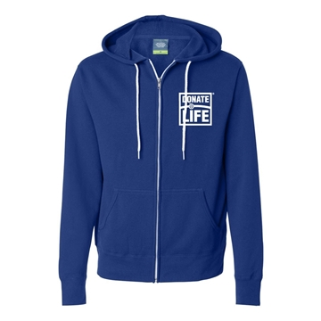 Picture of Independent Trading Company Unisex Lightweight Full-Zip Hooded Sweatshirt