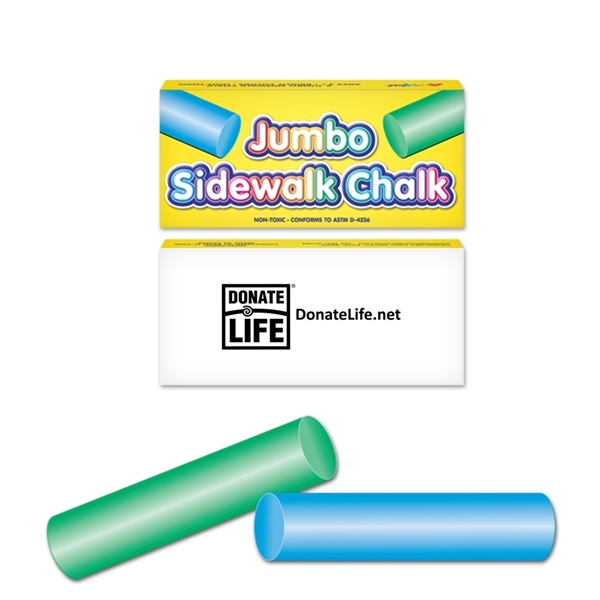 Picture of 2-Pack Jumbo Sidewalk Chalk